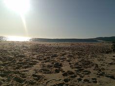 Puesta de sol playa de Bolonia.