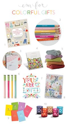 colorful gift guide