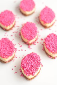#sprinkles, #appetizer, #football, #cheesecake, #shower, #pink, #dessert, #superbowl    Read More: http://www.stylemepretty.com/living/2014/01/27/a-guide-to-the-anti-superbowl-party/