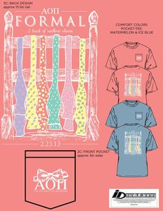 AOII Spring formal shirts, Delta Omega girls look so cute in these comfort color tees!