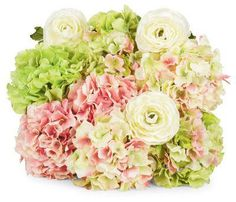 Spring Ranunculus and Hydrangea Stems...makes me happy