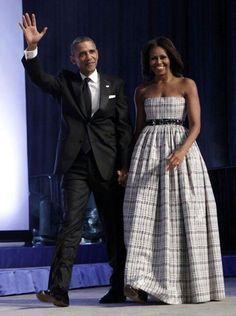 President Barack Obama and his First Lady Michelle Obama