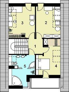 DOM.PL™ - Projekt domu HG-n3 CE - DOM AL1-80 - gotowy koszt budowy House 2, Floor Plans, How To Plan, Houses, Beauty, Floor Plan Drawing, House Floor Plans