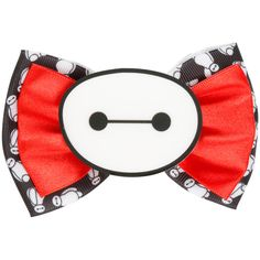 Disney Big Hero 6 Baymax Hair Bow ($6.37) ❤ liked on Polyvore featuring accessories, hair accessories, multi, disney hair bows, disney, bow hair accessories and disney hair accessories