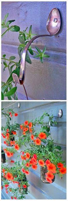Grace y todo en Crochet: CUCHARA COLGADOR DE PLANTAS...SPOON RACK PLANT ...