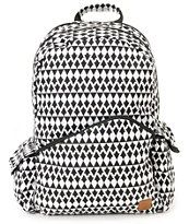 Volcom Going Study Black & White Laptop Backpack