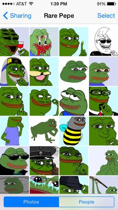 my friend started an icloud photo sharing album with me full of rare pepes