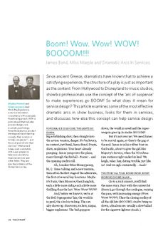 TP04-2P24 – Boom! Wow. Wow! WOW! BOOOOM!!! James Bond, Miss Marple and Dramatic Arcs in Services