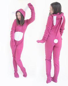 Pajama with fluffy bunny tail / Any color and size Cute Pjs, Cute Pajamas, Pajamas Women, Ukraine, Potty Training Pants, Bunny Suit, Pajama Outfits, Fluffy Bunny, Girls Sleepwear