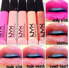 Nyx lipgloss these are awesome and Fleur de Force says they are worth the hype