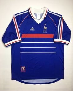 99aa8fdd58e 1990s Vintage Adidas Team France Soccer Jersey - 90 s Adidas Short Sleeve  Football Jersey - 90s Hip Hop Clothing - Streetwear Hypebeast