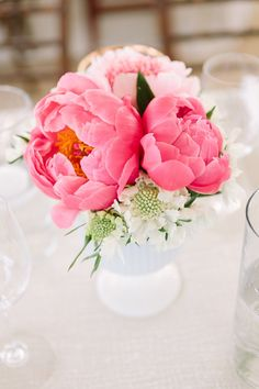 Coral charms. Floral Design: Kate Stanley Designs. Photography: U Me Us Studios - umeusstudios.com