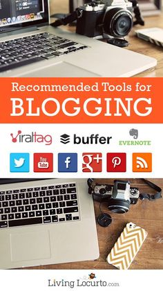 Recommended tools and services for bloggers or online business owners. Time saving, social media and SEO tools and tips to help run a blog. LivingLocurto.com Blog, Blogging Business #blog