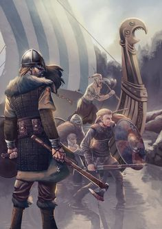 Vikings, Dan Ramos on ArtStation at https://www.artstation.com/artwork/JR6Zn