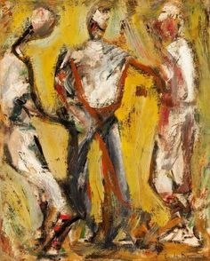 Impressionism & Modernism:Abstraction, ELAINE DE KOONING (American, Home, Oil onmasonite. 18 x 14 inches x cm). American Figurative Expressionism, Expressionist Artists, Figurative Art, Willem De Kooning, Mondrian, Elaine De Kooning, Francoise Gilot, Helen Frankenthaler, Joan Mitchell