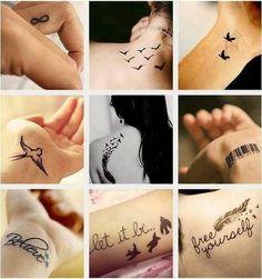 diferent tattoos