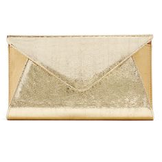 Rental Franchi Gold Abigail Clutch ($20) ❤ liked on Polyvore featuring bags, handbags, clutches, gold, gold purse, gold clutches, gold envelope clutch bag, brown handbags and envelope clutch bag