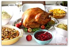 a traditional thanksgiving dinner menu (10 recipes)