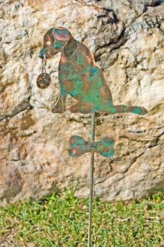 Labrador / Stake / Metal Garden Art / Copper Art / Yard Art / Pet Memorial / Dog Art / Retriever / Outdoor Metal Art / Animal Sculpture