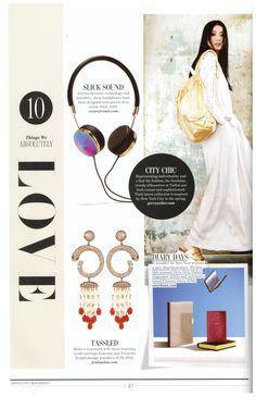 JCM London Tassel earrings featured in Absolutely, January 2015