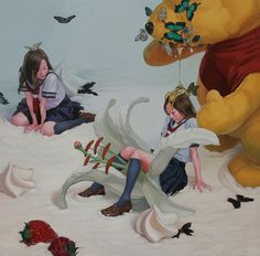 There is something so creepy about these candy-filled nightmarish works by Japanese artist, Kazuhiro Hori. And it's not even the little school girls i...