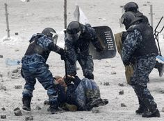 """The """"Berkut"""" (Ukrainian: Бе́ркут), English for eagle specifically Golden eagle, was the system of special police of the Ukrainian militsiya within the Ministry of Internal AffairsSince late March 2014 its Crimean unit in the Republic of Crimea has been incorporated into the Russian Ministry of Internal Affairs preserving its old name. Following the 2014 Ukrainian revolution, when Berkut was held responsible by the new government for most of the  civilian deaths, and disbanded"""