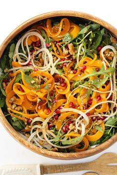 Pear, Pomegranate & roasted butternut squash salad