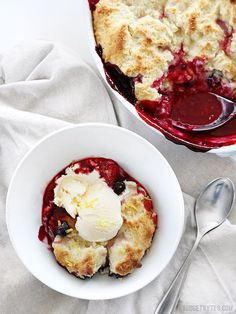 Lemon Berry Cobbler