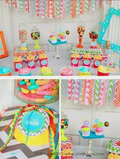Fancy Parties From Babies to Their Puppies: Candyland Sweet 16
