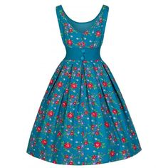 Lindy Bop 50's Lana Prom Party Dress In Teal | Tiger Milly