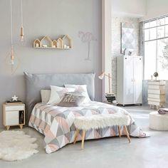 Nachttisch mit 1 Tür und 1 Schublade aus Paulownienholz, weiß
