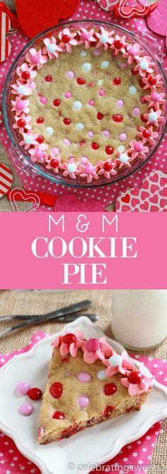 M&M Cookie Pie | Posted By: DebbieNet.com