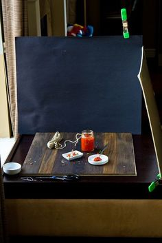 Photo Set Up and Styling:  I love these real behind the scenes snapshots.  Helpful, reassuring, and informative.