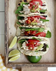 Easy slow cooker/slowcooker/crockpot chicken tacos. I LOVE this recipe. Serve these easy shredded chicken tacos with salsa, lime juice, pickled red onions, and whichever other toppings you like. We prefer to use chicken thighs!