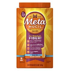 Metamucil Daily Fiber Supplement, 100% Natural Psyllium Husk, Orange Smooth Sugar Free Fiber Powder, 180 Doses //Price: $21.10 & FREE Shipping //     #hashtag1
