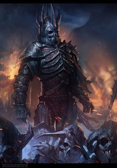 ArtStation - Eredin - Witcher 3 fanart, Owl Grey Evil