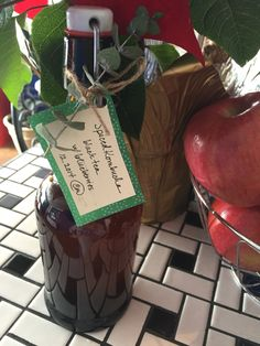 Kombucha gift with Eucalyptus tags. Original pin, to remember next year.