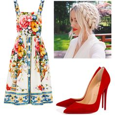 Event by lizzythedizzy on Polyvore featuring mode, Dolce&Gabbana and Christian Louboutin