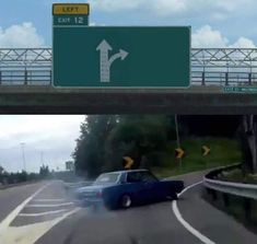 A Left Exit 12 Off Ramp meme. Caption your own images or memes with our Meme Generator. All Meme, Stupid Funny Memes, Funny Quotes, Life Quotes, Funny Reaction Pictures, Funny Pictures, Meme Template, Templates, Checklist Template