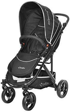 StrollAir CosmoS Single Stroller, Black   Stroll-Air is a hip and chic stroller design manufacturer specializing in the development of innovative single baby stroller products Read  more http://shopkids.ca/tools-accessories/strollair-cosmos-single-stroller-black