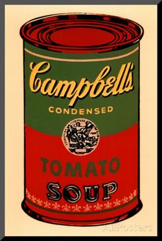 Campbell's Soup Can, 1965 (Green and Red) Lámina montada en tabla