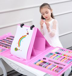 Children's toys little girls years old 8 girls 4 start school 5 students 7 paint brushes 9 painting set birthday 10 gifts Little Girl Toys, Toys For Girls, Kids Toys, Little Girls, Children's Toys, Girls 4, Toddler Toys, Baby Girls, Cool Gifts For Kids