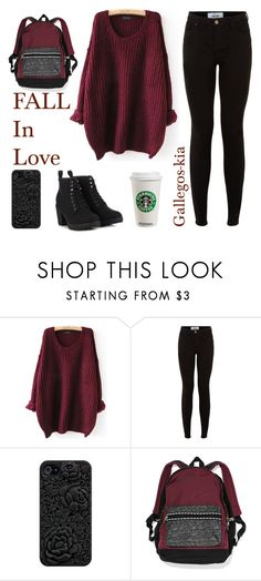 """""""Fall school outfits! Monday!"""" by kiaramarieg ❤ liked on Polyvore featuring New Look and Call it SPRING"""