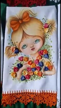 Crochet Doily Patterns, Crochet Doilies, Crochet Flowers, Knit Or Crochet, Crochet Crafts, Free Crochet, Fabric Painting, Fabric Art, Fabric Crafts