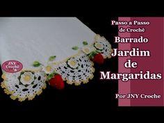 Passo a Passo de Crochê Mega Barrado Jardim de Margaridas por JNY Crochê - YouTube
