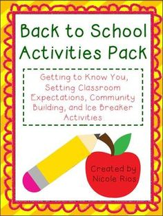 Start the school year off right with these fun, community-building activities that will have your students moving, thinking, speaking, and writing.  $