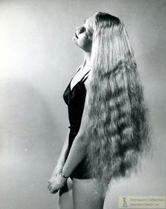 vintage everyday: Awesome Vintage Longhaired Lady Photographs by Stan Shuttleworth