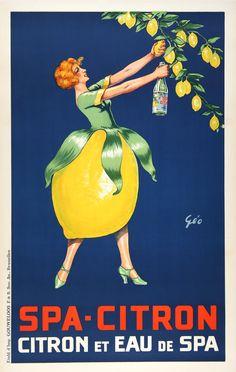 1930s Spa Citron vintage advert poster