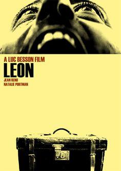 Alternative film poster for Leon designed by Lewis Wallis