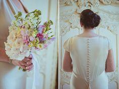 Claire Pettibone Kristene wedding dress, Newton Hall Wedding, Northumberland Wedding, Helen Russell Photography